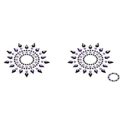 Petits Joujoux - Gloria - Black & Purple Crystal Body Jewellery Art - Stickers