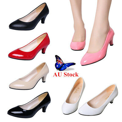 AU Women's Stiletto Mid High Heel Sandals Office Lady Work Smart Business Shoes
