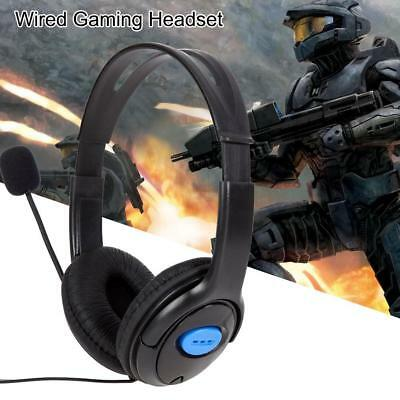 Wired Gaming Headset Headphones Adjustable Microphone for Sony PS4 PlayStation 4