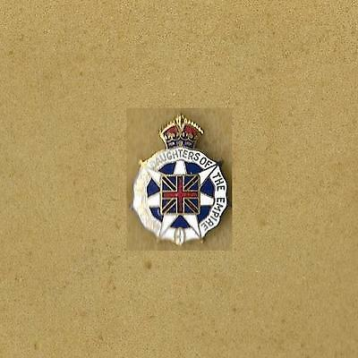 Imperial Order Daughters Of The Empire Of Canada Old Enamel Vintage Small Pin