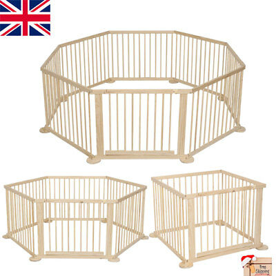 Heavy Duty Baby Child Children Wooden Foldable Playpen Play Pen Room Divider New
