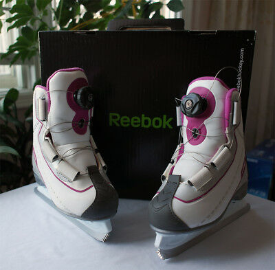 Reebok Misses / Girls Ice Skates BOA / EASY Lacing Comfort Boot - Pink - Size 12