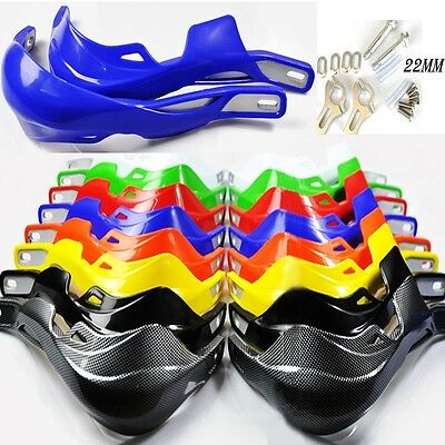 2x 7/8'' 22mm Handlebar Motorcycle Dirt Bike Handguard Hand Guard Protector Blue