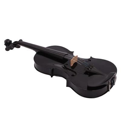 4/4 Full Size Acoustic Violin Fiddle Black with Case Bow Rosin V6F3