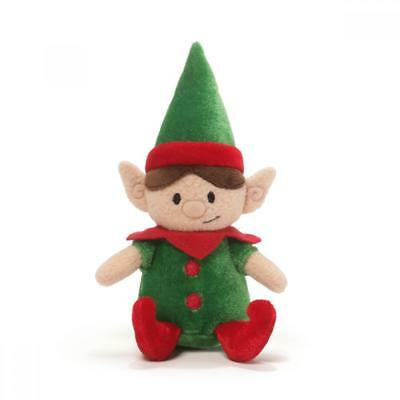 NEW Gund Christmas Giggling Elf Plush Toy - Boy - 17cm