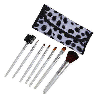 7 Brushes Makeup Makeup Cosmetic White + White underside Box Point Black P7P5