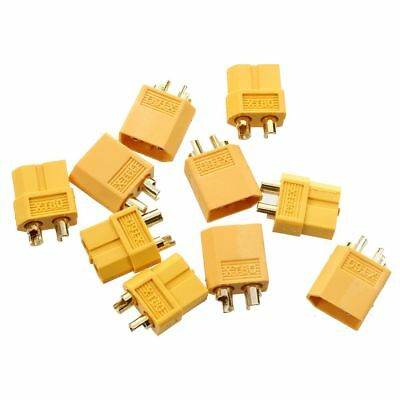 5 pairs yellow nylon XT60 T- plug oic power socket RC Gold plug adapter W8H5