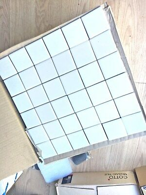 MATT WHITE TILES 48mm x 48mm square tiles BRAND NEW