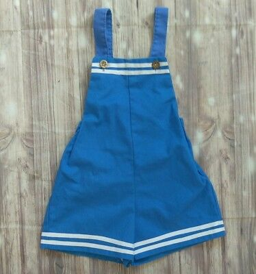 Animal Crackers Baby Sailor Suit Vintage Baby Boys Nautical Romper Sz 4 Shortall