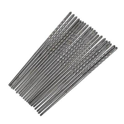 Stainless Steel Chopsticks Tableware 10 Pairs Silver Tone G1X4