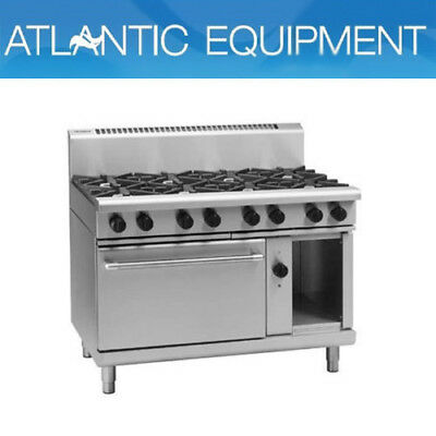 Waldorf RN8810GEC 1200mm 8 Burner Gas Range - Electric Convection Oven
