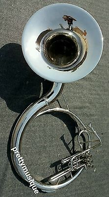 "Sousaphone 22""bell Of Pure Brass In Chrome Polish + Bag & Mouthpc +Free Shipping"