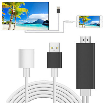0.8M 8 Pin Lightning to HDMI TV AV Adapter Cable for iPad Mini 3 iPhone 6S 7 7 +
