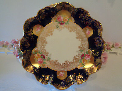 Breathtaking Antique  Cake Plate By Aynsley England c.1905+ Remarkable Condition