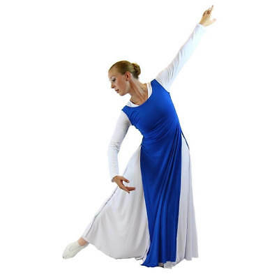 Danzcue Womens Worship Tunic with Side Slits (white dress not included)