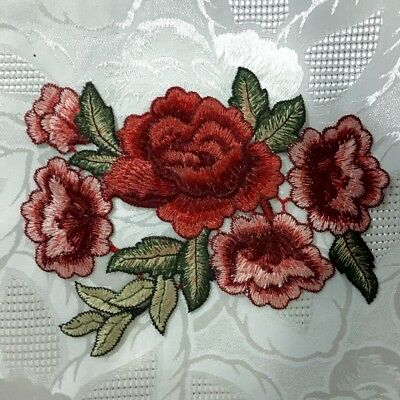 1pc Large Flower Applique Embroidered Sew On Craft Sewing Clothing  #726