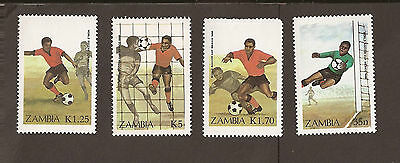 Zambia. 1986 Scott 350-353 (MNH) Football