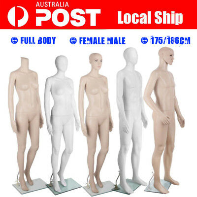 Female Male Mannequin Cloth Display Tailor Full Body Dressmaker 175/186CM