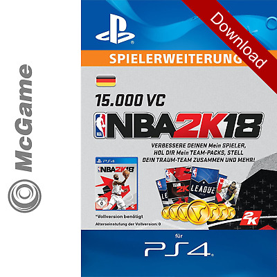 NBA 2K18 15.000 VC | PS4 Code | Gamecard Gametime In-Game Währung