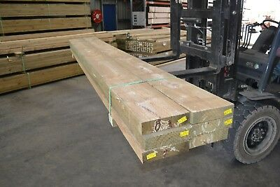 TREATED PINE SLEEPERS 200x50x3000 -  6pieces SECONDS - 1009