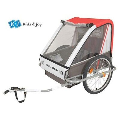 Bicycle Trailer Bike Child Trailer Two-Seater Jogger Grey