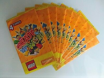 10 packs lego create the world cards 4 cards per pack