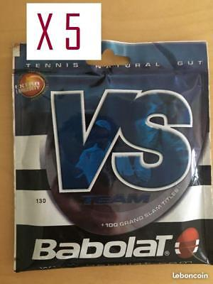 5 X  Babolat VS Gauge 16 130  40'  Natural Gut tennis LAST ITEMS  100% NEW