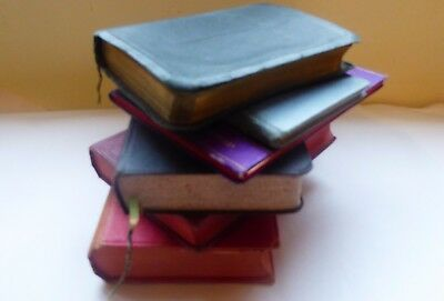 6 vintage books of common prayer, bibles, hymns