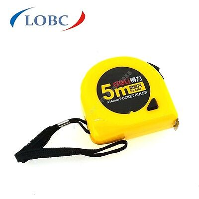 5M Professional DIY Auto Lock Measurement Measure Measuring Tape