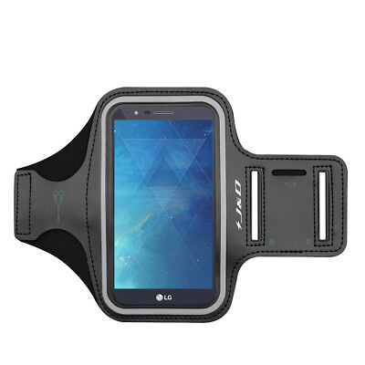 J&D LG Stylo 3 Sport Armband with Keyholder Slot/Earphone Connection