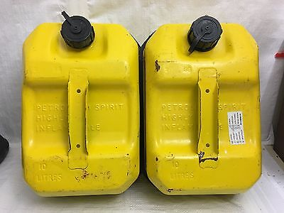 2x Explosafe metal jerry cans / fuel cans - 10 litres