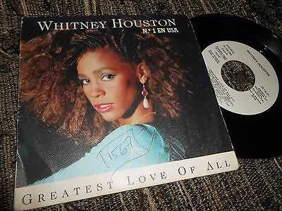 """Whitney Houston Greatest Love Of All/thinking About You 7"""" 1986 Promo Spain"""
