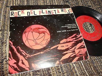 "DON LANG&FRANTIC FIVE Rock planeta Rojo +3 EP 45 7"" 1958 SPAIN SPANISH"