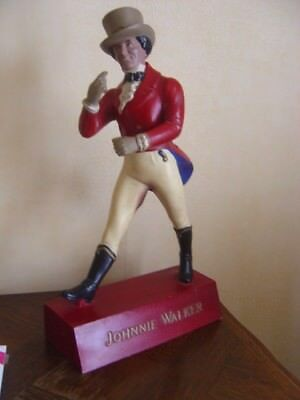 SUPERBE STATUE JOHNNY WALKER en BOIS