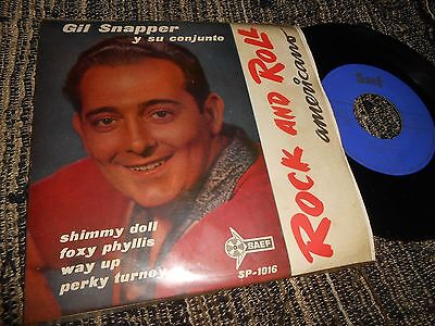 "GIL SNAPPER Shimmy Doll +3 EP 45 7"" 1959 SPAIN SPANISH Rock and Roll R'N'R"