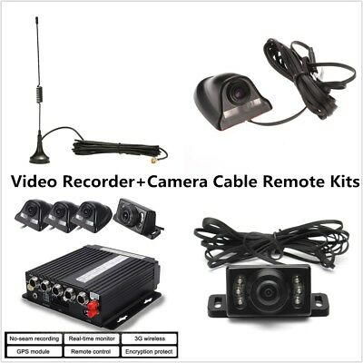 130 Megapixel SD-MDVR Video Recorder + 4 Camera Cable Remote Kit 3G/4G GPS