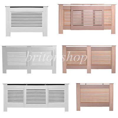 Panana Wood Natural White Painted Radiator Cover Wall Cabinet  MDF Grill Modern