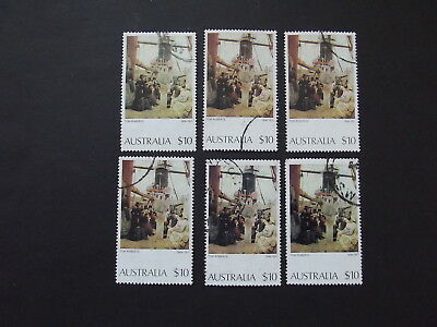 1977 Australian Paintings  6 X $10 Coming South Tom Roberts - Used