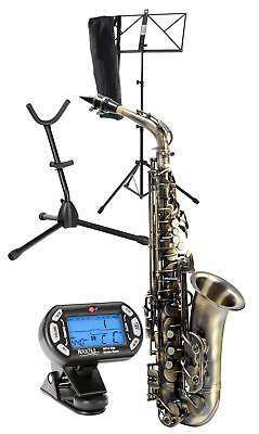 Classic Cantabile Winds As-450 Altsaxophon Antique Yellow Stimmgerät Stativ Case