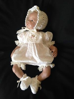 "Beautiful Broderie Anglaise Romper Set- 20 - 21"" Reborn"