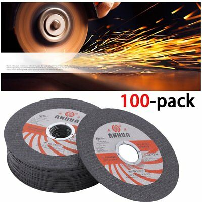 "100 Pack 4-1/2""x.040""x7/8"" Cut-off Wheel - Metal & Stainless Steel Cutting Discs"