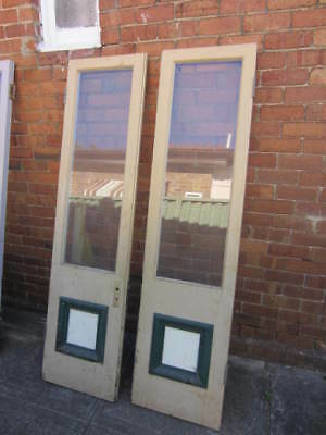 Antique French doors restoration edwardian victorian front timber bifold vintage
