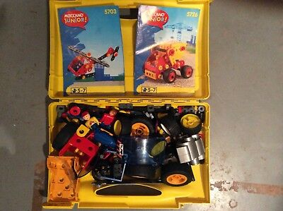 Meccano Junior, plastic set 5703 & 5726, in original case