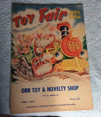 Vtg Christmas Toy Catalog 1955/56 Toy Fair Tonka Structo (Piqua, OHIO)