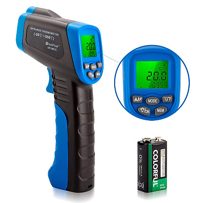 Digital Laser Gun Thermometer Temperature Infrared Thermal Heat Sensor Gauge IR
