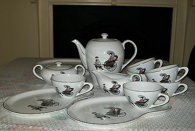 15pc VINTAGE 'ARITA' CHINA TEA / COFFEE SERVING SET - Japan