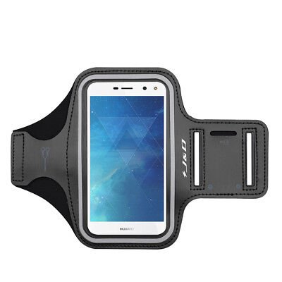 J&D Huawei Y5 2017 Sport Armband with Keyholder Slot/Earphone Connection