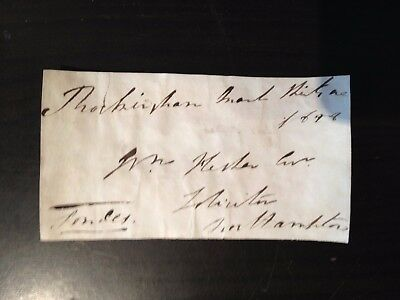 Free Front Dated 1828 - To Northampton - Signed Londes ??