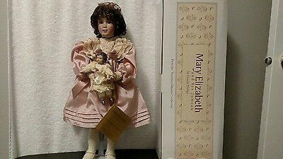 Paradise Galleries Porcelain Doll Premier Edition Mary Elizabeth & Her Jumeau
