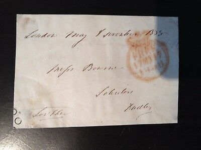 Free Front Dated 1838 - London To Dudley - Signed Lowther